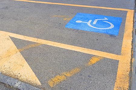 Parcheggio riservato invalidi
