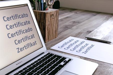 Certificati plurilingua