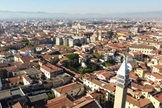 Veduta aerea del centro storico di Prato